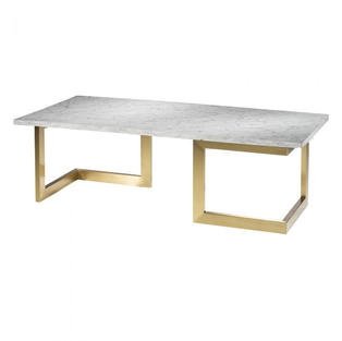 Geo Cocktail Table w/ Gold Base