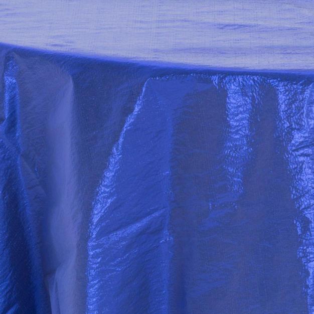 Royal Blue Tissue Lame Overlay