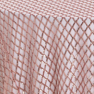 Rose Diamond Sequins Textured Sheer