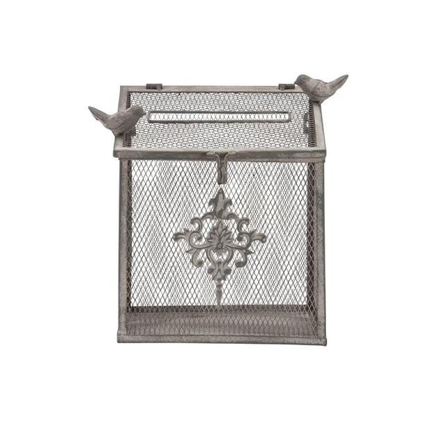 Wrought Iron Bird Cage Card Box