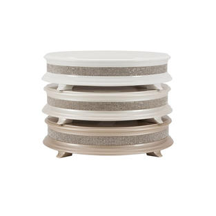 Wood Round Crystal Cake Stand