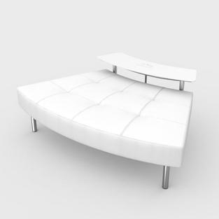 Endless Powered Small Curved Table w/ Curved Ottoman