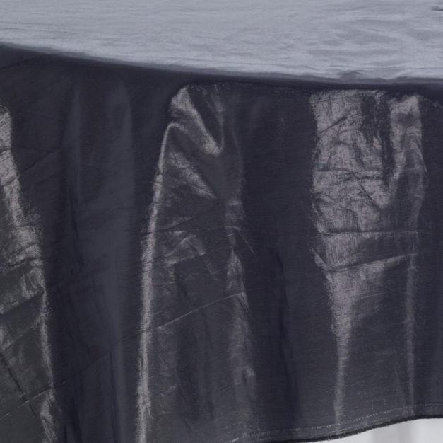 Black Tissue Lame Overlay