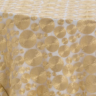Gold Coin Textured Sheer Overlay
