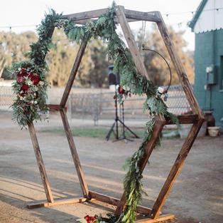 Octagon Wood Wedding Arch
