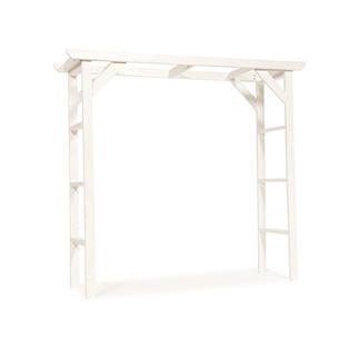 White Wood Wedding Arch