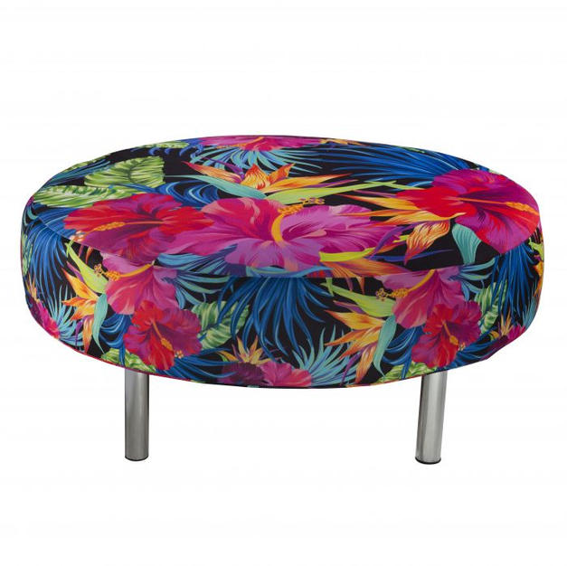 Endless Round Ottoman Fabric Cover