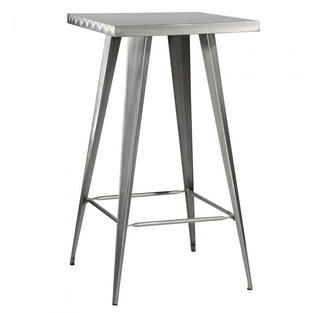 Rustique Square Metal Bar Table
