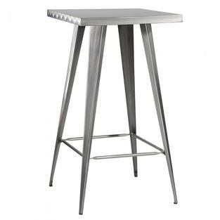 Rustique Square Metal Bar Table