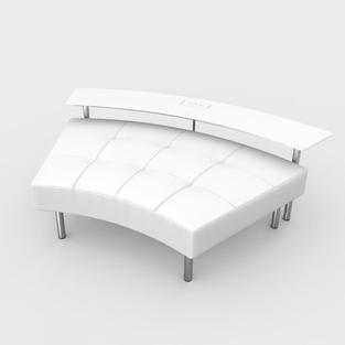 Endless Powered Large Curved Table w/ Curved Ottoman