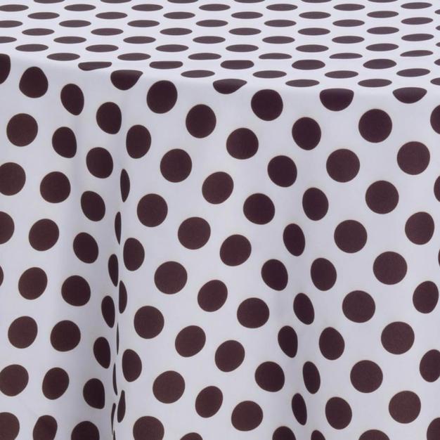 Chocolate Polka Dot Prints Overlay