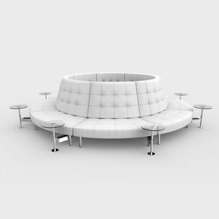 Endless Powered High Back Closed Circle w/ 8 Round Tables