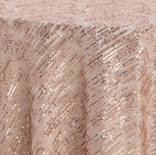 Rose Gold Laser Cut Textured Sheer