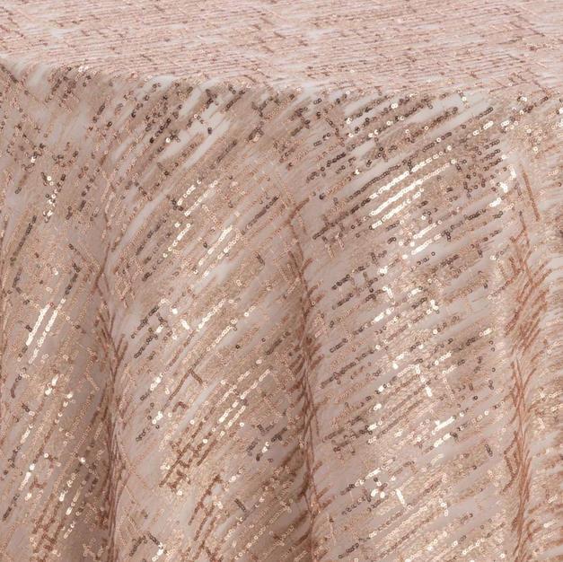 Rose Gold Laser Cut Textured Sheer