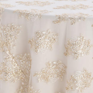 Ivory Gold Camilla Textured Sheer