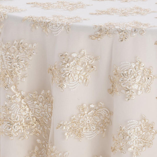 Ivory Gold Camilla Textured Sheer