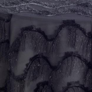 Licorice Gatsby Textured Sheer Overlay
