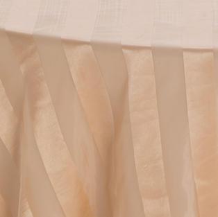Gold Satin Stripe Sheer Overlay