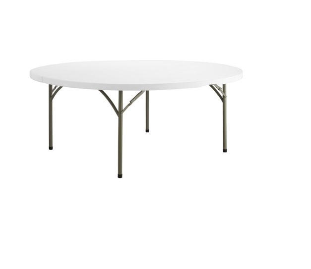 "72"" Round Plastic Table"