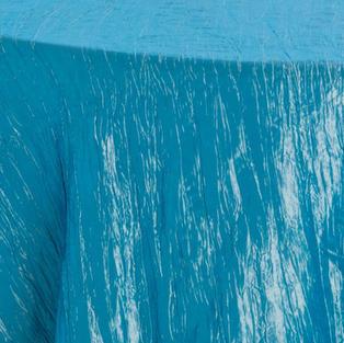 Carribean Blue Crinkle Taffeta