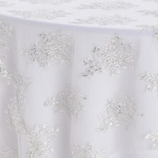 White Camilla Silver Textured Sheer