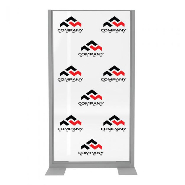 Clear Divider, Freestanding Logo, Clear