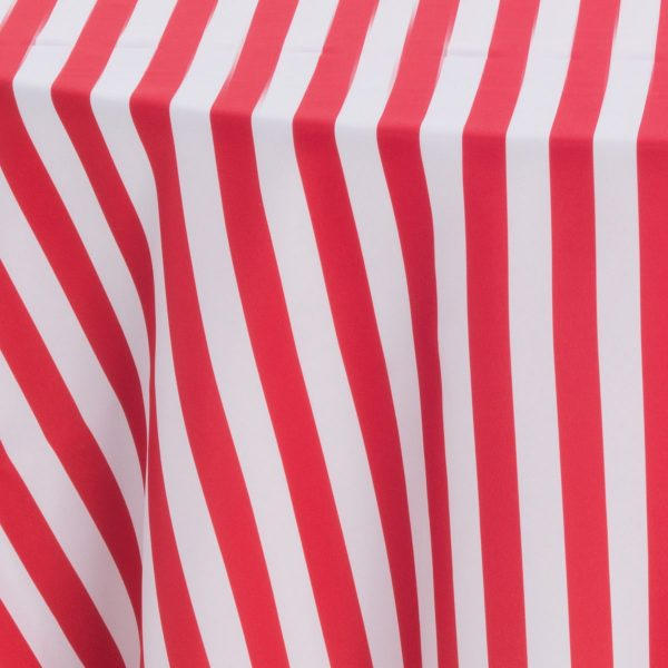 Red White 1 Inch Stripes