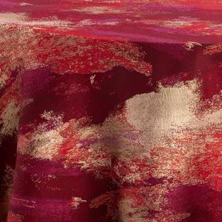 Watercolor Red Gold Metallic Reversed