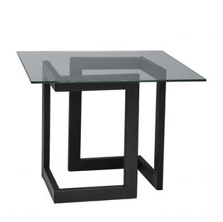 Geo End Table w/ Black Base