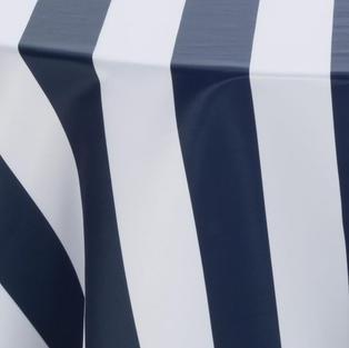 Navy White 3 Inch Stripes