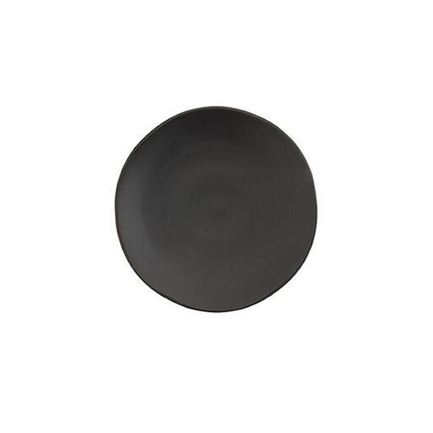 Black China Salad Plate