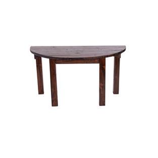 """60"""" Mahogany Half Moon Table"""