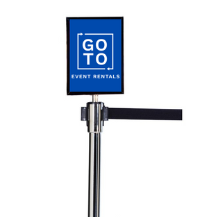 Stanchion Sign Holder