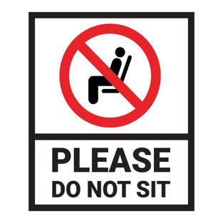 Please Do Not Sit Decal