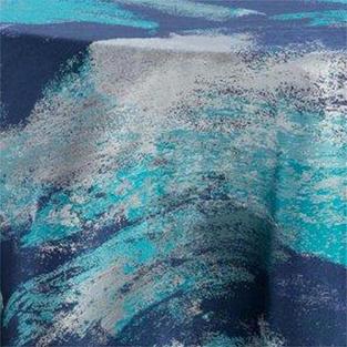Watercolor Ocean Metallic