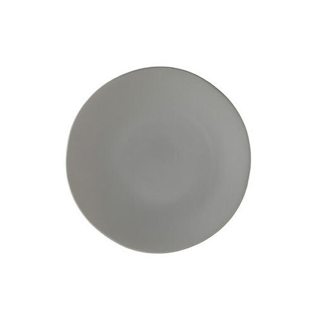 Gray China Dinner Plate