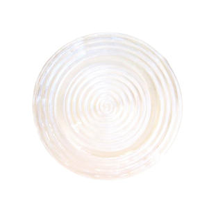Clear Swirl Glass Charger