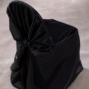 Black Satin Pillow Case Cover