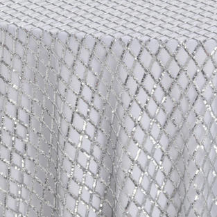 Platinum Diamond Sequins Textured Sheer