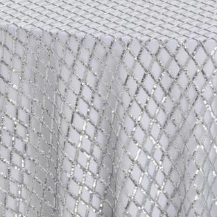Platinum Diamond Sequins Textured Sheer