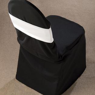 White Spandex Chair Band