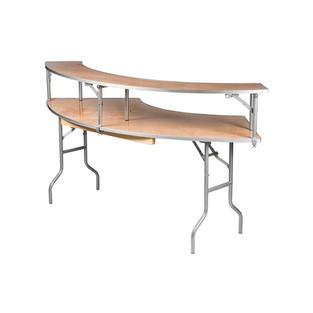 7′ Serpentine Bar Top Tables