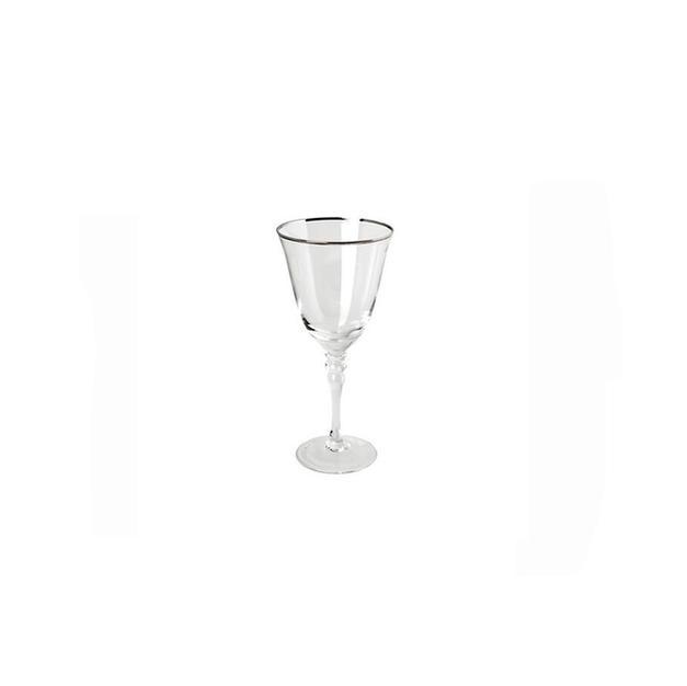 Silver Rim Stemware White Wine
