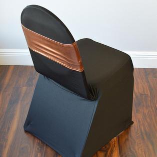 Copper Metallic Spandex Chair Band