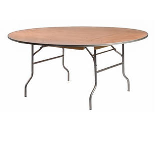 "72"" Round Wooden Table"