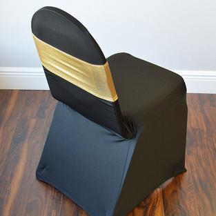 Gold Metallic Spandex Chair Band