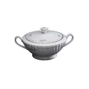 Vintage China Covered Vegetable Bowl