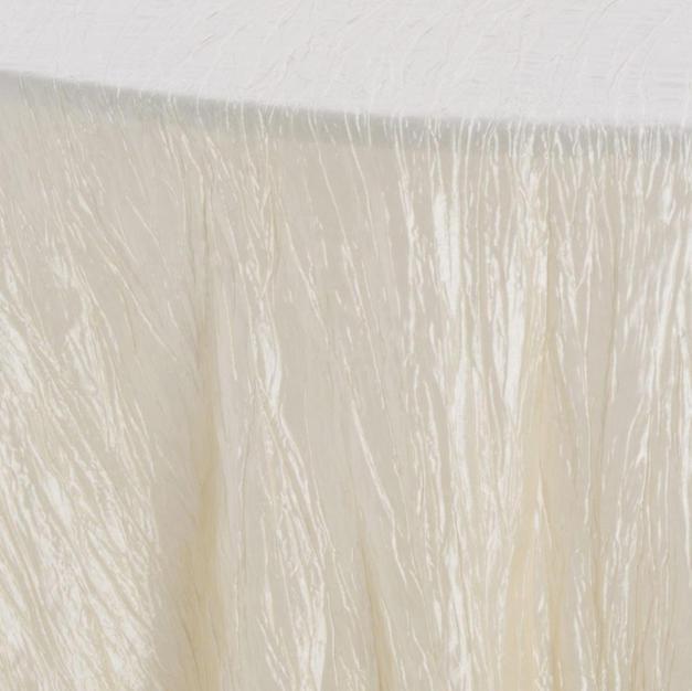 Ivory Crinkle Taffeta