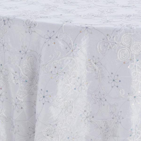Glacier Embroidered Sequins Taffeta