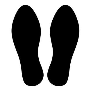 Footsteps Decal Set